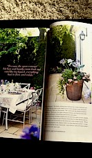 The garden was featured in a glossy spread!
